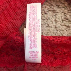 Victoria's Secret Intimates & Sleepwear - Victoria's Secret Red Lace Halter Slip